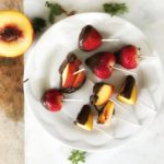Chocolate Fruit Lollipops
